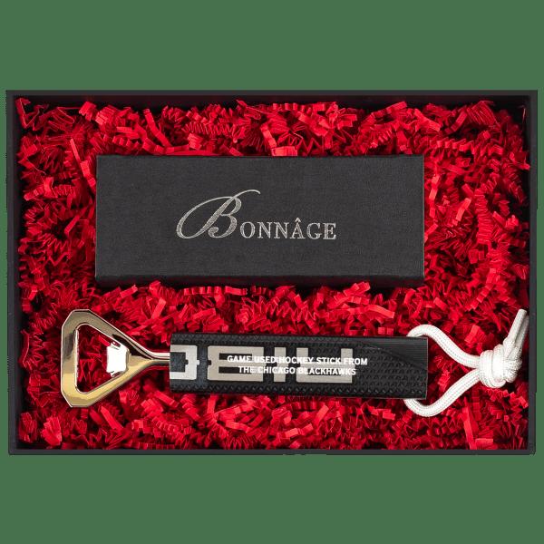 Chicago Blackhawks Game used stick Bottle Opener Luxury Gift
