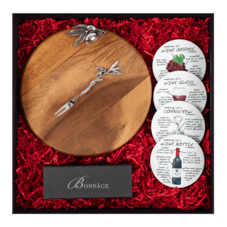 Celebrations The perfect gift for the perfect occasion of celebration!  Olive Cheeseboard & Fork  Wine Coaster Set  Signature Fairytale Brownies