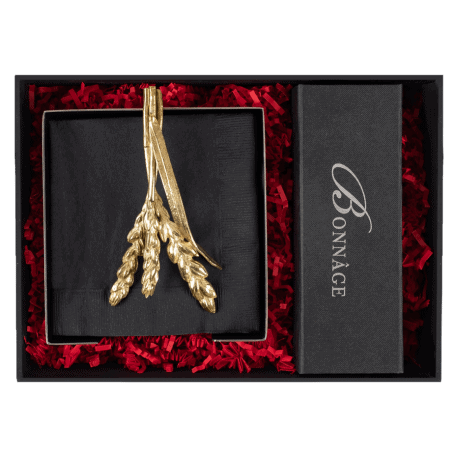 The Hostess An elegant gift that will be used and displayed year-round.  Wheat Cocktail Napkin Holder  Signature Fairytale Brownies