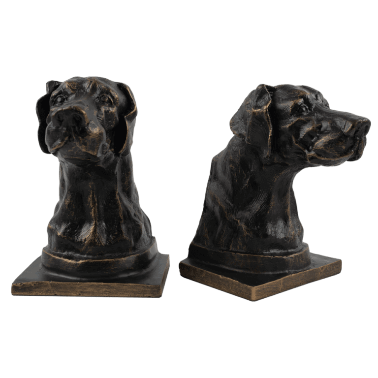 Bronze Dog Bookends