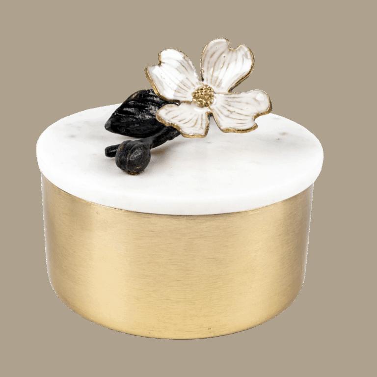 White Marble Round Box Luxury Gift