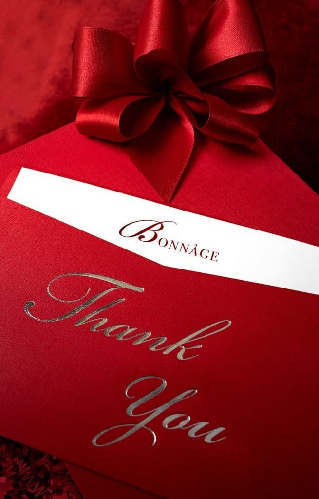 Luxury Corporate Gifts Thank You Card
